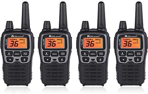 Read more about the article Midland T71VP3 36 Channel FRS Two-Way Radio – Up to 38 Mile Range Walkie Talkie – Black/Silver (Pack of 4), 6.2″ x 1.3″ x 2.3″, Model Number: T71X4VP3