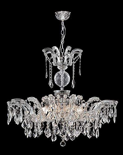 Read more about the article 8 Lights Silver Chandelier in Silver Finish