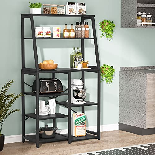 Read more about the article Tribesigns Kitchen Baker's Rack with Storage Shelves, 8-Tier Microwave Oven Stand Coffee Bar with Hutch, Utility Storage Shelf Standing Spice Rack for Home Kitchen