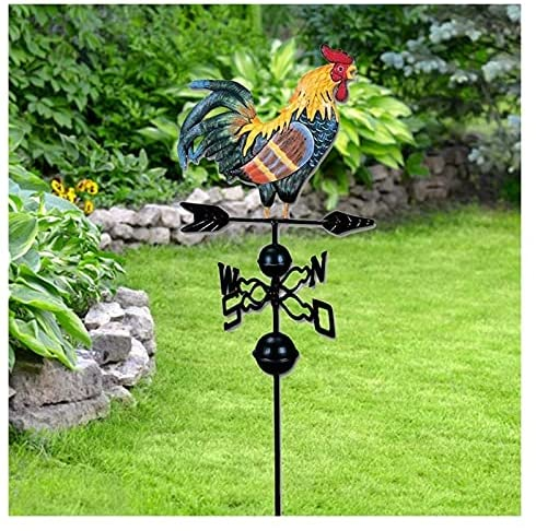 Read more about the article SZKP Steering Garden Stakes Ornaments Rooster Wind Cast Iron Weather Vane with Retro Metal Rooster Decoration for Lawn Yard Garden Accessories
