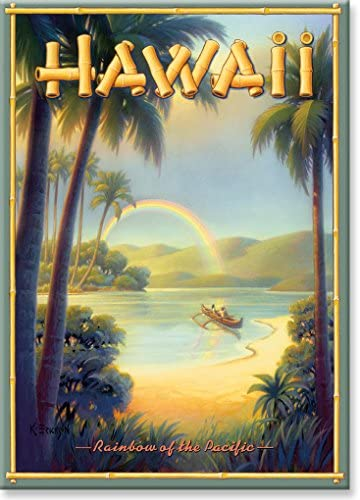 Read more about the article Hawaiian Art Collectible Refrigerator Magnet – Rainbow of the Pacific – by Kerne Erickson