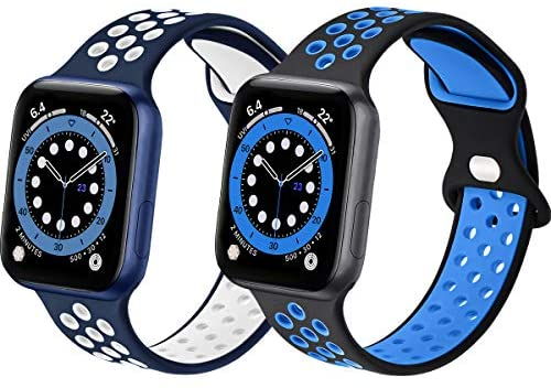 Read more about the article Sport Silicone Bands Compatible with Apple Watch Band 44mm 42mm 40mm 38mm,Soft Breathable Silicone Bands for Men Women Compatible for iWatch Series 6/5/4/3/2/1 SE
