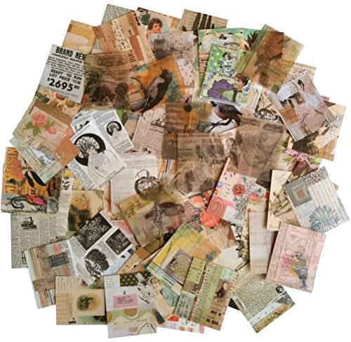 Read more about the article Vintage Scrapbooking DIY Material Paper Pack Animal Floral News Paper Letter Decorative Antique Retro Natural Collection Art Craft Diary Journal Embellishment Supplies