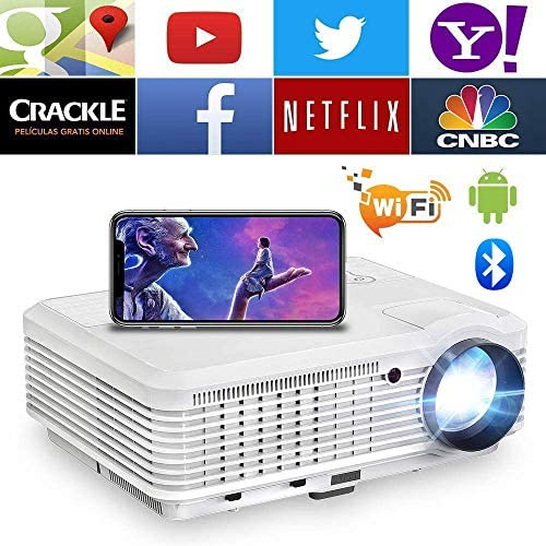 Read more about the article WIKISH HD Video Wireless Wifi Bluetooth Projector Wxga Lcd Hdmi Home Theater Proyector Android Smart Phone Projector for Indoor Outdoor Movie Gaming