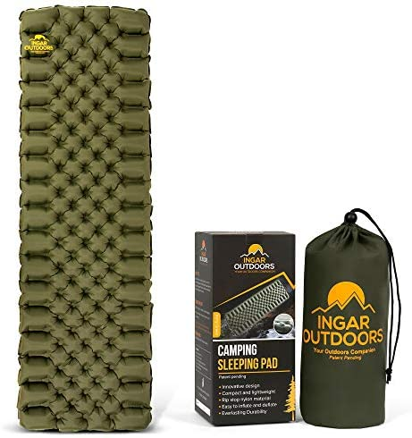 Read more about the article Camping Sleeping Pad, Ultralight Sleeping Pads for Backpacking, Hiking Camp Sleep Pad, Lightweight Air Mattress, Compact and Innovative Design Inflatable Mat, Carry Bag & Repair Patches