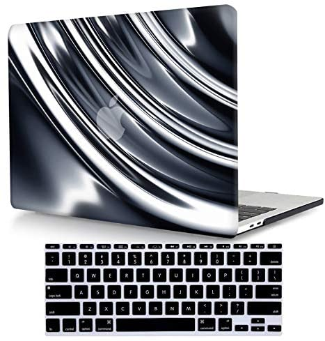 Read more about the article ACJYX Compatible with MacBook Air 13 inch Case 2020 2019 2018 Release New Version A2337 M1 A2179 A1932 with Retina Display & Touch ID, Plastic Hard Shell Case with Keyboard Skin, Silver & Gray