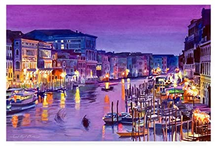Read more about the article Trademark Fine Art Romantic Venice Night by David Lloyd Glover, 30×47