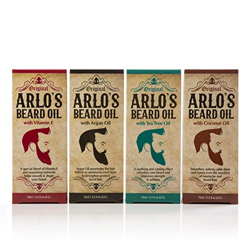Read more about the article Arlos Beard Oil Includes – Argan Tea Tree Vitamin E and Coconut (4 Pack)