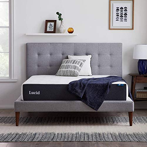 Read more about the article LUCID 10 Inch 2020 Gel Memory Foam Mattress – Firm Feel – CertiPUR-US Certified – Hypoallergenic Bamboo Charcoal, Twin XL