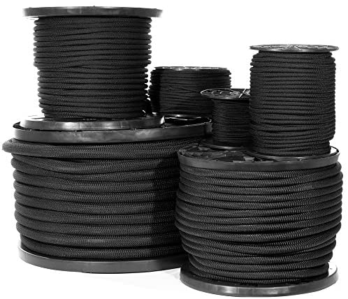 Read more about the article Shock Cord – Black Diamond Weave Elastic Bungee Cord – Features 100% Stretch, Shock Absorbent, & Strong Hold – Camping, Kayak Decks, Crafting, Gravity Chairs, & Tie-Downs – (3/8 Inch X 250 Feet)