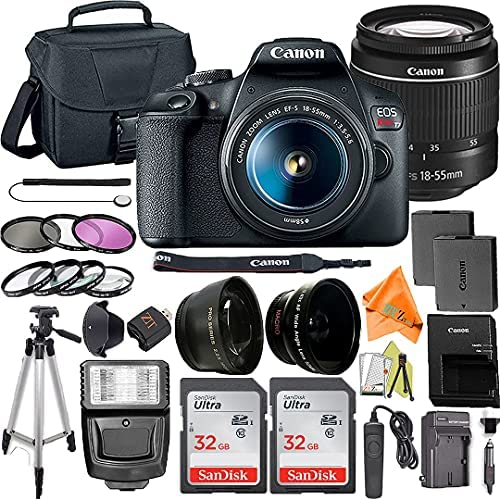 Read more about the article Canon EOS Rebel T7 DSLR Camera Bundle with EF-S 18-55mm f/3.5-5.6 Zoom Lens + ZeeTech Accessory Bundle + 2 Pack SanDisk 32GB Memory Card + Filter Kit + Flash + Tripod