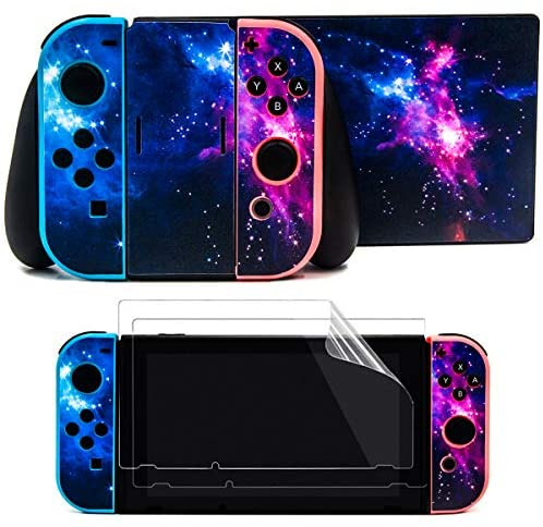 Read more about the article Taifond The Dazzling Galaxy Decals Stickers Set Faceplate Skin +2Pcs Screen Protector for Nintendo for Switch Console & Joy-Con Controller & Dock Protection Kit