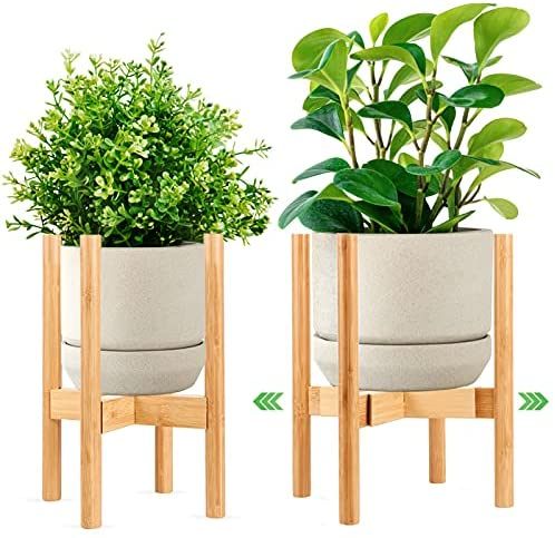 Read more about the article Adjustable Plant Stands 1 Pack,Width 8 to 12 inch,Mid Century Modern Indoor Potted Stand 15 inch Height, Bamboo Plant Holder for 8 to 12 inch Flower Pot (Only Plant Stand)