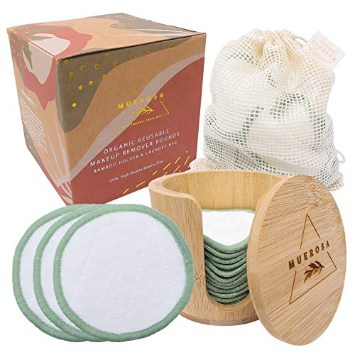 Read more about the article MUEROSA 14 pcs Reusable Bamboo Makeup Remover Pads | 100% Natural Bamboo Fiber Rounds | Soft Face Pads Facial Cleasing Skincare Set (14 Pads + Bamboo Holder + Laundry Bag, WHITE EDITION)