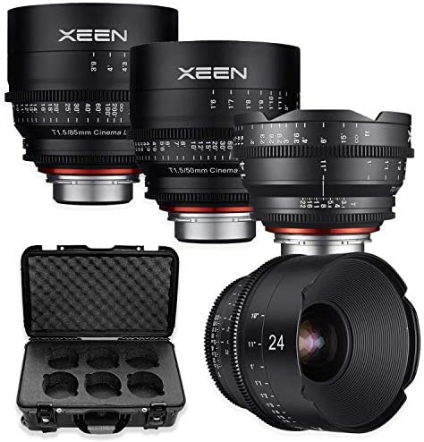 Read more about the article Xeen 24mm, 35mm, 50mm, 85mm T/1.5 Professional Cinema Series Lens Bundle for Micro 4/3 Mount Cameras by Rokinon