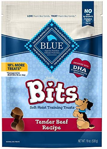 Read more about the article Blue Buffalo Blue Bits Natural Soft-Moist Training Dog Treats, Beef Recipe 19-oz Bag