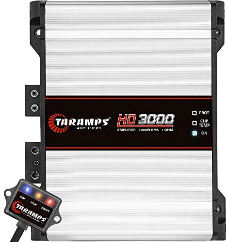 Read more about the article Taramps 900187 Class D HD 3000 Watt RMS 1 Ohms Automotive Sound Systems Mono Full Range Speaker Amplifier with Built in Thermal Management Fan