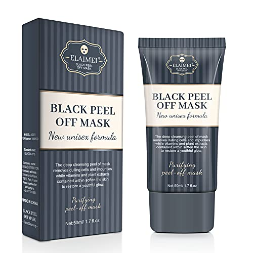 Read more about the article Blackhead Peel Off Facial Mask Remover Cream, Charcoal Clay Black Mask for Deep Cleansing Nose Acne Pore Oil Dirts, Add with Activated Carbon, Oil Control for All Skin