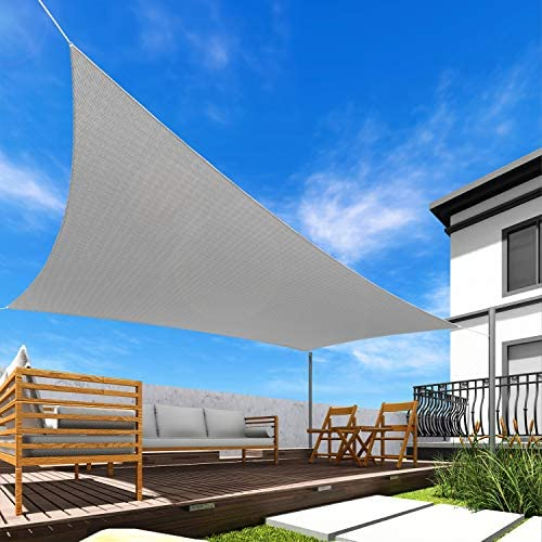 Read more about the article Windscreen4less 5′ x 9′ Rectangle Sun Shade Sail – Solid Light Grey Durable UV Shelter Canopy for Patio Outdoor Backyard – Custom Size