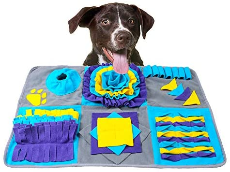 Read more about the article AnberCare Dog Toys, Snuffle Mat for Dogs, Nosework Training Play Mats Interactive Puzzle Toys for Stress Release, Food Dispensing Feed Game