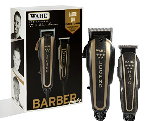 Read more about the article WAHL Professional 5-Star Barber Combo #880 Features a New Look 5-Star Legend Clipper and Hero T-Blade Trimmer, Black 1.0 Count