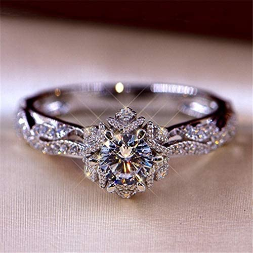 Read more about the article Women Diamond Rings, Luxury Bridal Zircon Elegant Engagement Wedding Band Ring Fashion for Couples Wedding