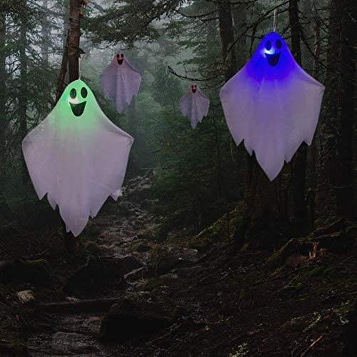 Read more about the article Halloween Hanging Decoration, 3 Pack Spooky Flying Wraith Fantasma Glow in The Dark, for Front Porch Outside Yard Patio Lawn Garden Tree Party Favor