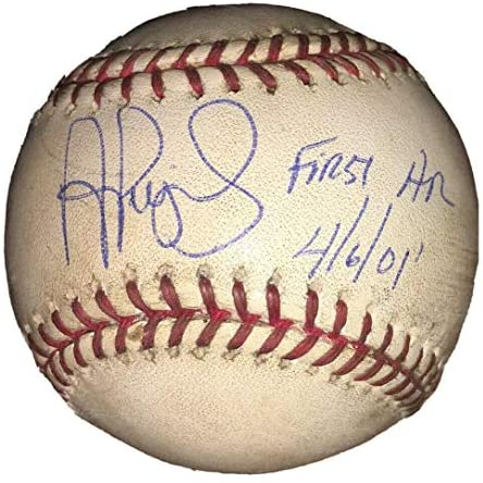 Read more about the article Albert Pujols Signed & Inscr Cardinals Game Used 1st HR Baseball 4/6/01 MLB HOLO – MLB Game Used Baseballs