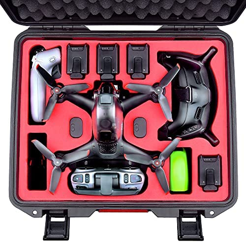 Read more about the article FPVtosky Professional DJI FPV Case, Waterproof Hard Carrying Case for DJI FPV Combo Drone, Goggles V2, Motion Controller and Other Accessories, Hold 5 Batteries, 2 Sets of Propellers