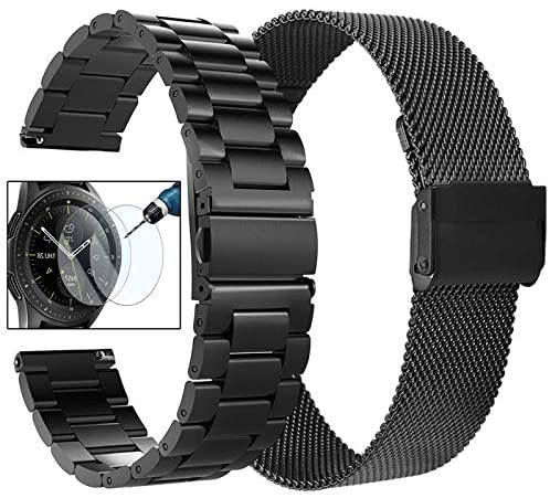 Read more about the article Koreda Compatible with Samsung Galaxy Watch 42mm/Galaxy Watch 3 41mm/Active 40mm/Active 2 40mm 44mm Bands Sets, 20mm Stainless Steel Metal Band + Mesh Loop Replacement Bracelet Strap for Gear Sport