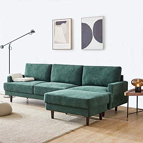 Read more about the article Anshunyin 3-Seat Sofa Bed Set L-Shape Sleeper Couches Sectional Sofa Couch Set Convertible Sofa Modern Fabric Sleeper Corner Sofa w/Extra Wide Ottoman Lounge, Emerald