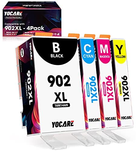 Read more about the article YOCARE Compatible Ink Cartridge Replacement for HP 902 XL| High-Yield 4 Combo Pack | Up-to-Date Chip Work with Officejet Pro 6978 6968 6962 6958 6975 Officejet 6900 Series Printer (Black/C/M/Y)