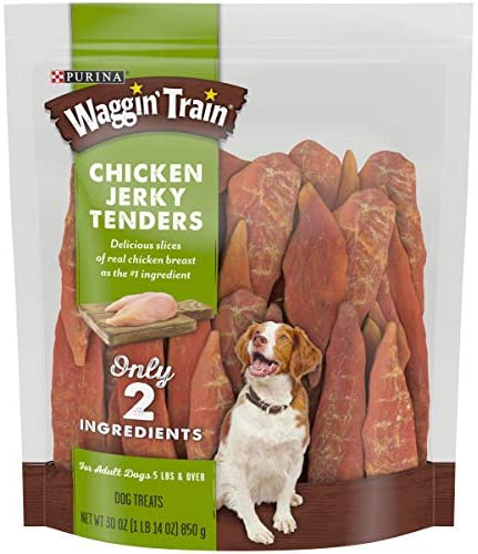 Read more about the article Purina Waggin Train Chicken Jerky Tenders High Protein, Limited Ingredient Adult Dog Treats