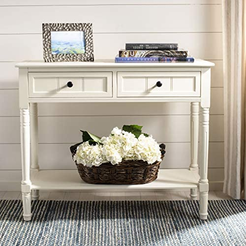Read more about the article Safavieh American Homes Collection Samantha Distressed/Cream 2-Drawer Console Table