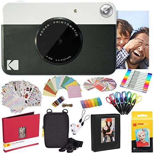 Read more about the article Kodak Printomatic Instant Camera (Black) All-in-Bundle + Zink Paper (20 Sheets) + Deluxe Case + Photo Album + 7 Unique Sticker Sets + Markers + Scissors + Border Stickers and So Much More