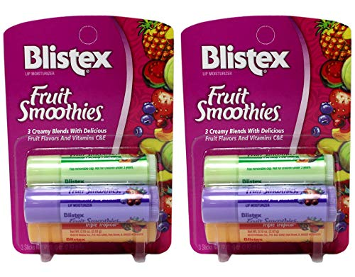 Read more about the article Blistex Fruit Smoothies Lip Moisturizers 3 Sticks 0.10 oz each Pack of 2
