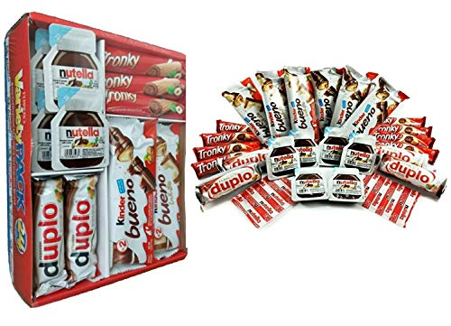 Read more about the article Ferrero Variety Pack 24 ct Assorted Hazelnut Chocolates & Hazelnut Spread – Kinder Bueno | Kinder Bueno White | Nutella | Tronky | Duplo