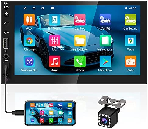 Read more about the article 2021 New Double Din Android Car Stereo 7 Inch Touch Screen Car Radio with GPS+WiFi+FM+Bluetooth, with 4 USB Port, Mirror Link & Backup Camera