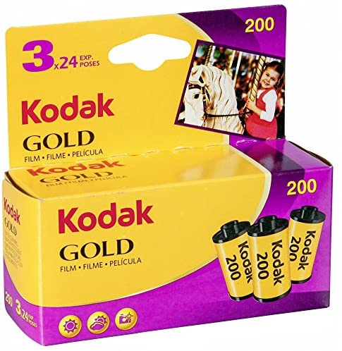 Read more about the article Kodak 6033971 Gold 200 Film (Purple/Yellow) – 3 Rolls – 24 Exposures Per Roll