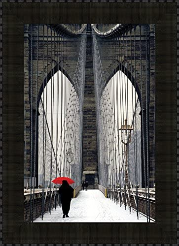 Read more about the article Tangletown Fine Art Brooklyn Bridge Meets Red by Michael Cahill Art Print