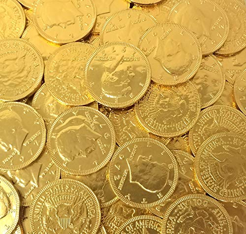 Read more about the article CrazyOutlet Gold Coins Milk Chocolate Candy Large 1.5 Inch, St. Patrick's Day Chocolate Candy, 5 Lbs Bag