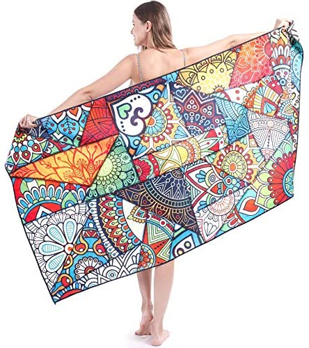 Read more about the article Beach Towels Oversized Microfiber Bath Towels, Big Beach Towel That's Sand Free and Quick Dry, Travel Accessories Gifts, Cute Beach Towel for Women, Cool Beach Towels for Men, Large Towels for Adults