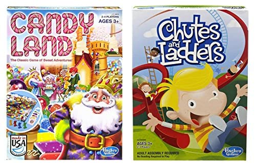 Read more about the article Hasbro Candyland and Chutes and Ladders Board Games
