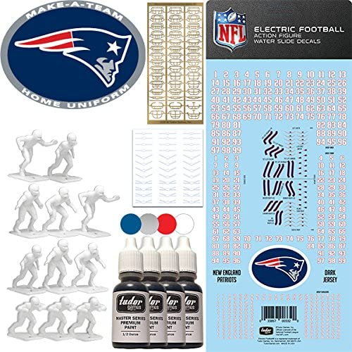 Read more about the article NFL New England Patriots NFL Home Uniform Make-A-Team Kit for Electric Football