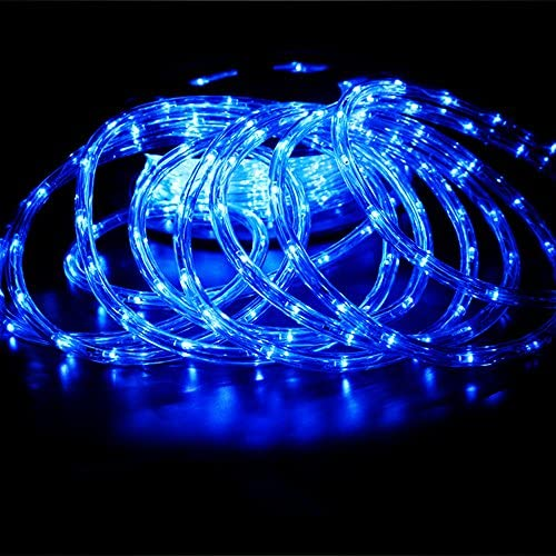 Read more about the article PYSICAL 110V 2-Wire Waterproof LED Rope Light Kit for Background Lighting,Decorative Lighting,Outdoor Decorative Lighting,Christmas Lighting,Trees,Bridges and Eaves (Blue, 50ft)