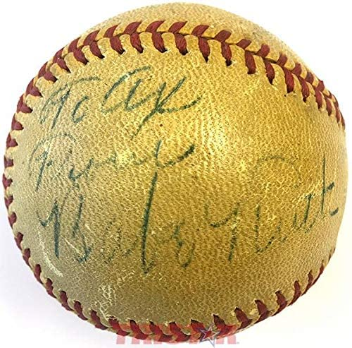 Read more about the article Babe Ruth & Umpire George Magerkurth Autographed Vintage Spalding Baseball – Autographed Baseballs