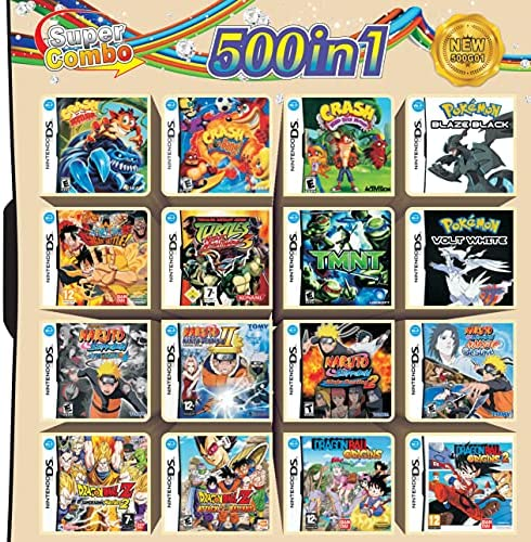 Read more about the article Antetek DS Games, 500 Games in 1 NDS Cartridge Pack Card Compilations Super Combo Cartridge Game Card for DS NDS NDSL NDSi 3DS XL New