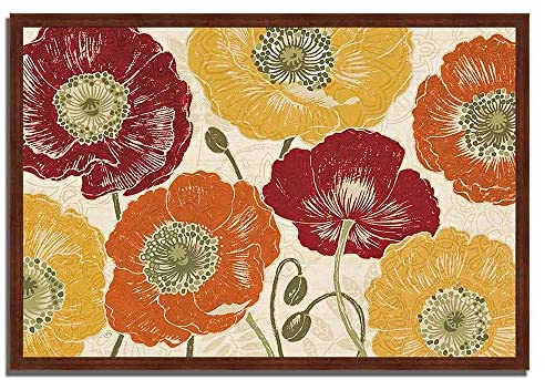 Read more about the article Tangletown Fine Art 40″ x 59″ A Poppy's Touch I Spice by Daphne Brissonnet Framed Painting Print