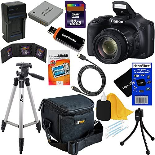 Read more about the article Canon Powershot SX530 HS 16.0 MP Digital Camera with 50x Zoom, Wi-Fi & 1080p Full HD Video + NB-6L Battery & AC/DC Charger + 10pc Bundle 32GB Deluxe Accessory Kit w/HeroFiber Gentle Cleaning Cloth