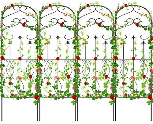 Read more about the article Amagabeli 4 Pack Garden Trellis for Climbing Plants 60″ x 18″ Rustproof Sturdy Black Iron Trellis for Potted Plants Support Lattice Metal Trellis for Climbing Roses Vines Flower Vegetable GT01